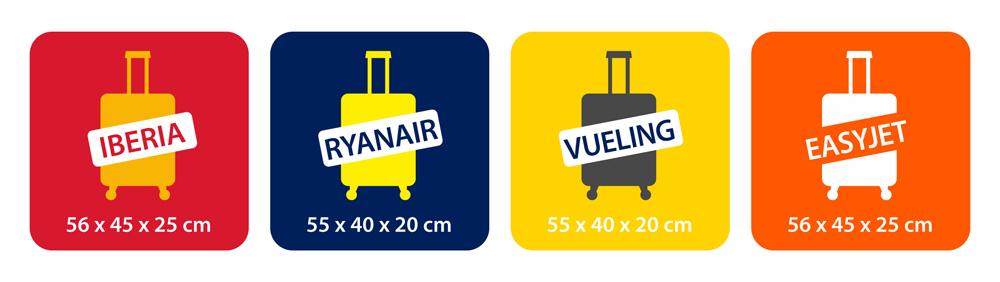 Las mejores maletas de mano para viajar en avi n sus maletas - Medidas maleta cabina vueling ...