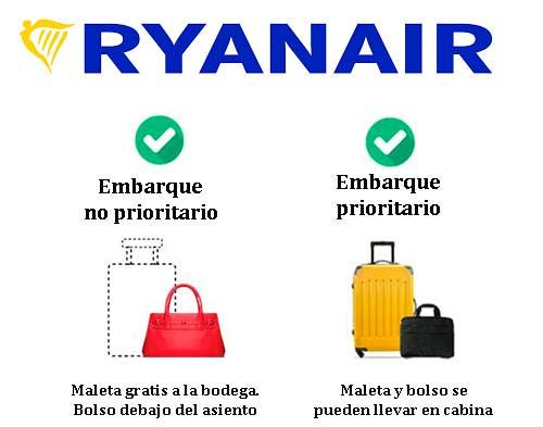 58f98ca23 Cuántas maletas puedo llevar en Ryanair? - Sus Maletas