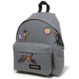 Eastpak Padded Pak'R grey patched