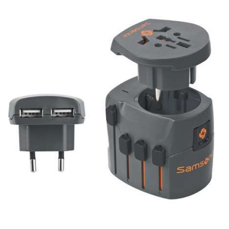 World Adaptor Grounded + USB