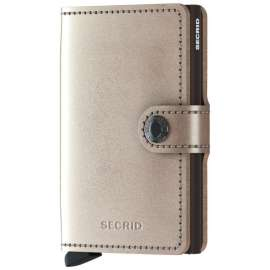 cartera Secrid Miniwallet Metallic Champagne-Brown